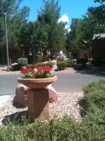 Sedona Pines Resort: water features can be heard from each cottage- fountains and streams. Jul2012