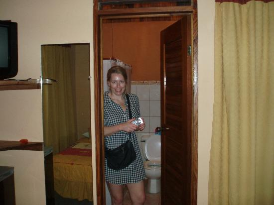 Hotel Ritmo Tropical: Horrible pic of me coming out of the spacious bathroom