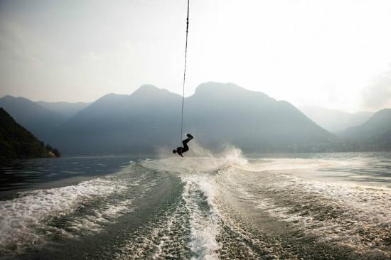 Wake Boarding on Lake Como - with Club Morgan - Crotto Del Misto