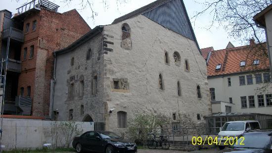 Alte Synagoge: Fachada da Sinagoga de Alte, Erfurt, Alemanha