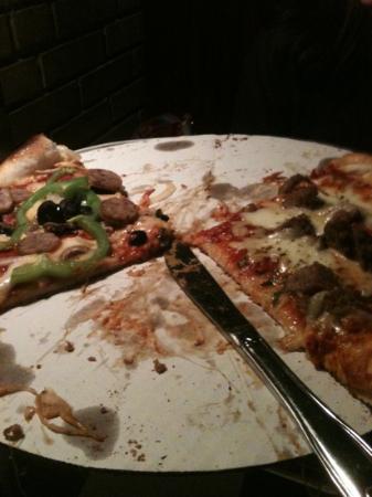 Dewey's Pizza: supreme and meatball! YUM