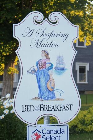 A Seafaring Maiden Bed and Breakfast: Sign