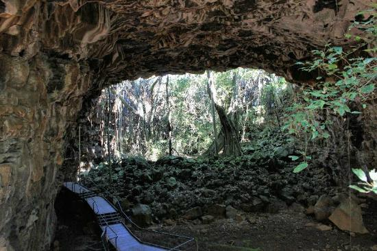 Undara Experience: Colourful Archway at Undara Lava Tubes NP