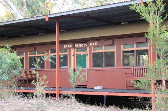 Undara Experience: An old Red Rattler Sleeping Car Train carriage - Undara Lodge
