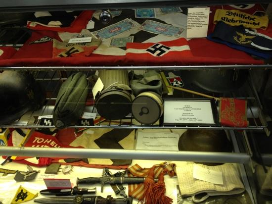 Vermilion County War Museum : Some of the artifacts on display.