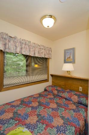 The Landing Resort: 1st floor sleeping alcove (1st floor bath is also in this area, so the sink is inches from the b
