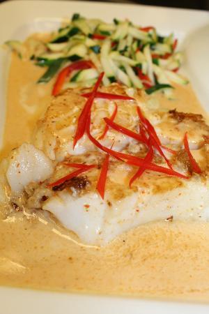 Sakura Japanese Steak House & Sushi: Seabass with Tai Curry Sauce