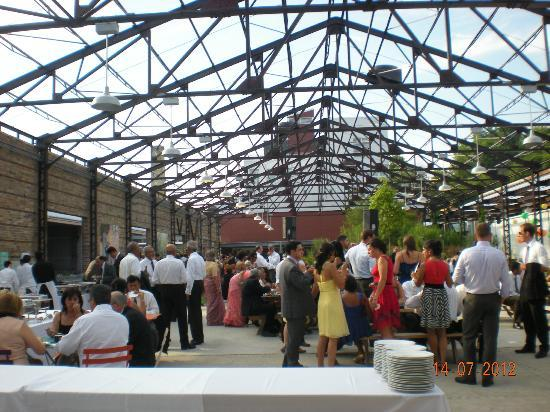 Evergreen Brick Works: People have private party, and wedding reception