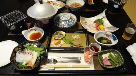 Murakami, Japan: 夕食