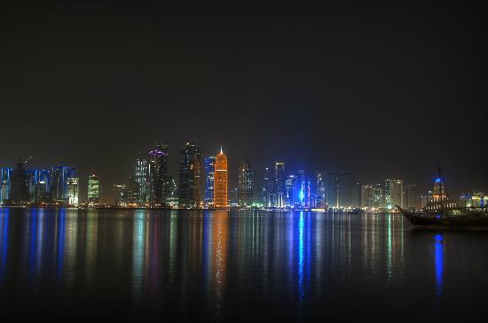The Corniche with Doha Skyline