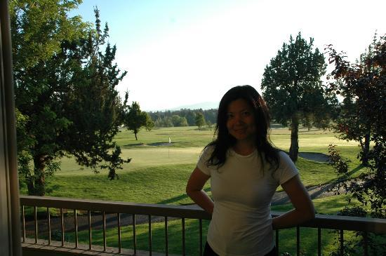 The Lodge at Eagle Crest: Morning at Balcony overlooking the golf course