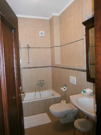Hotel U krale: badkamer