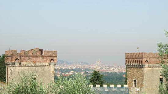 A Casa di Olivo: The view of Florence city (with the Duomo's cupola in view) on the olive farm behind the house