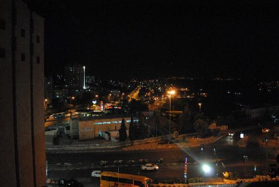 Jerusalem Gate Hotel: View from my room (night)
