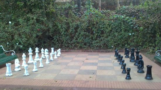 Lords Central Hotel: the rare life-size chessboard