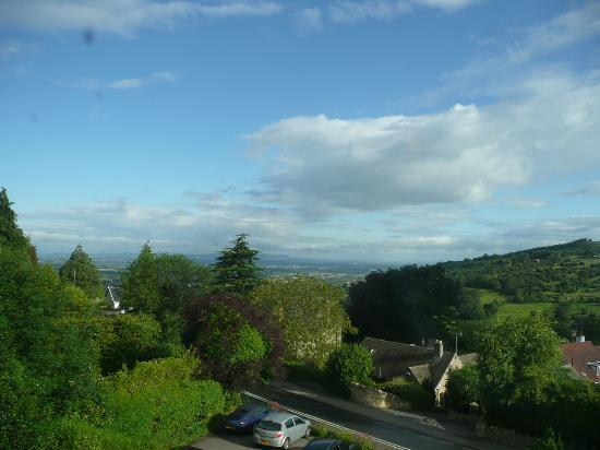 Cleeve Hill House Hotel: View towards Severn Valley and Malvern Hills