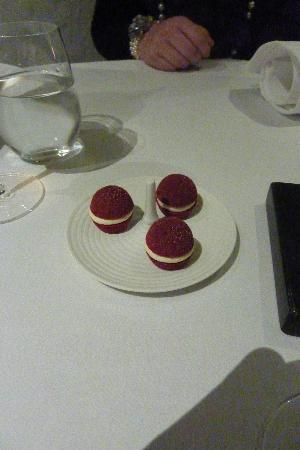 One of the tasting menu courses