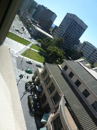 The Fairmont San Jose: View from the room, piazza below...