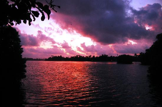The Waterside Bentota: View in the evening..strange colors caught on my camera