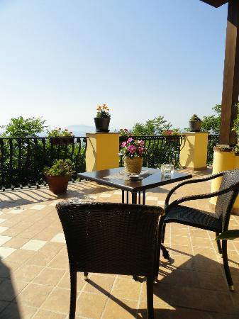 Monte Solaro: Privat terrasse