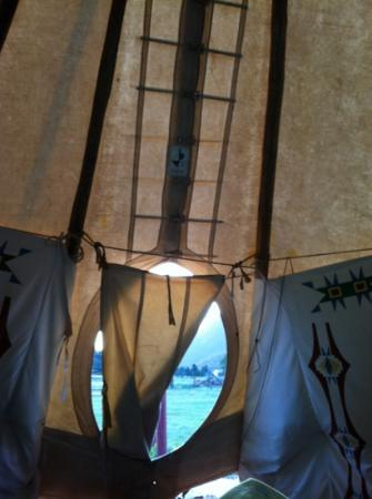 Elk Meadow Lodge & RV Resort: great views from the teepee