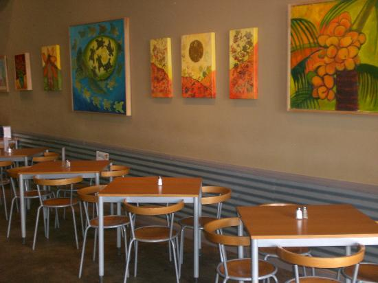 Meridians Eatery: Revolving Local Art Wall