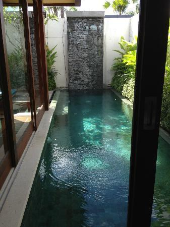 Maca Villas & Spa : View of Plunge Pool from our Bedroom
