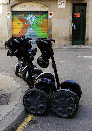The wife on the segway - Picture of Barcelona Segway ...