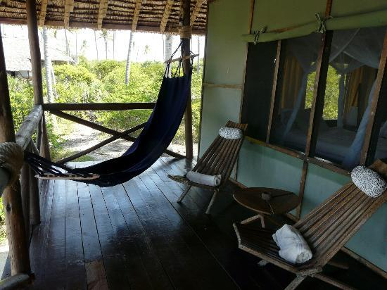 Simply Saadani Camp: Terrace with hammock 'with a view'