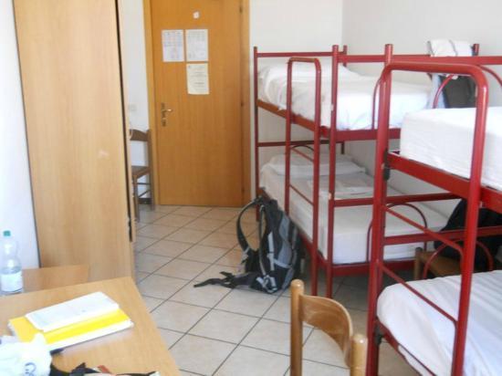 Ostello di Perugia: una delle stanze