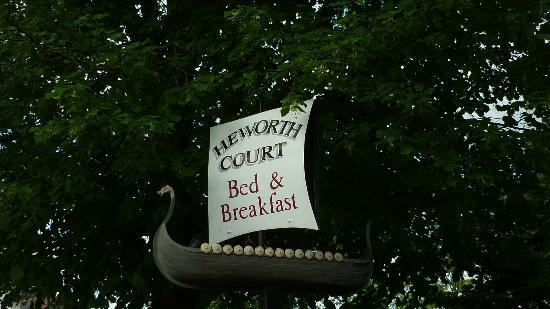 Heworth Court Hotel: Sign