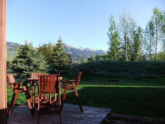 Teton View Bed & Breakfast: View from the cabin entrance