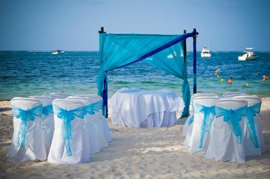 Dreams Palm Beach Punta Cana Set Up Turquoise Veils