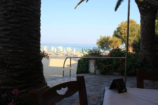 Kalogria Beach Hotel: The view from my breakfast table!