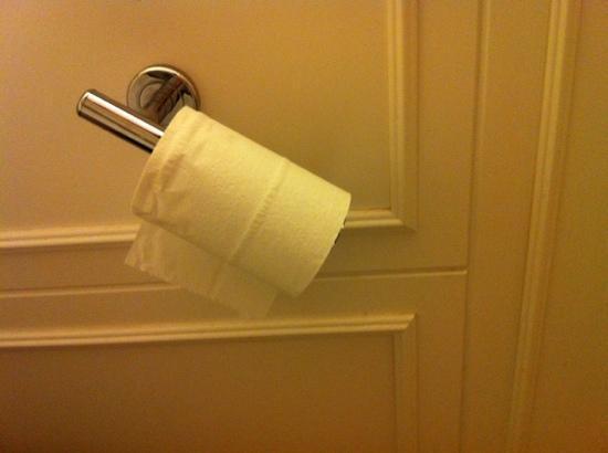 Doubletree Collinsville/St. Louis: broken toilet paper holder