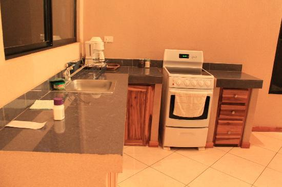 Tamarindo Blue Apartments: The kitchen in the room