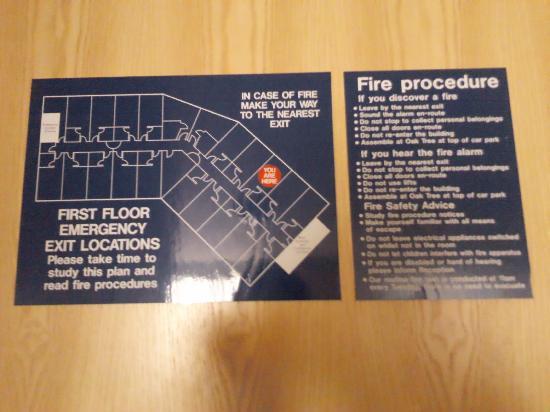 The Fairway, Barnsley: Fire Regulations