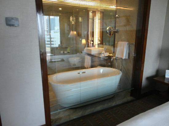 Crowne Plaza Hotel Gurgaon: CP Gurgaon view of bathroom from room