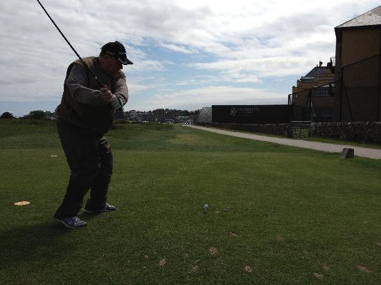 The Royal & Ancient Golf Club of St. Andrews: Alistair - Bouns points for hitting The Old Course Hotel...kidding of course.