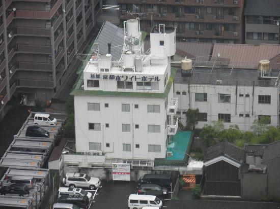 Kyoto White Hotel : Foto desde arriba del hotel.