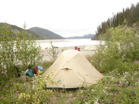 Copper Oar Rafting Day Trip: Scenic campsite