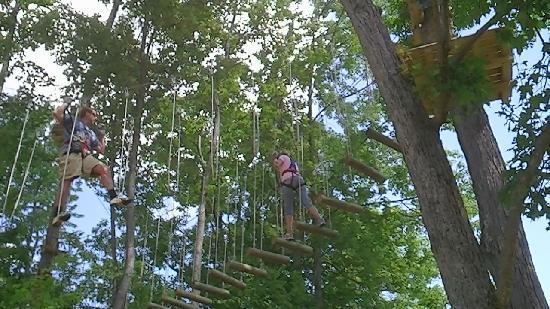 Sky High Aerial Adventure Park : mark ropes lori logs