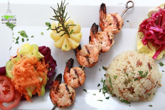 Smyrna Mediterranean Turkish Restaurant: SHRIMP KEBAB