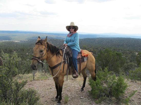 """Geronimo Trail Guest Ranch: On top of the world with my favorite horse, """"Buck"""""""