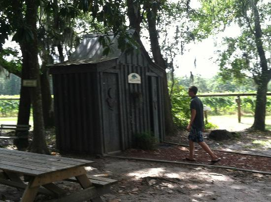 "Firefly Distillery: The ""outhouses"" are actually bathrooms but don't expect luxury"