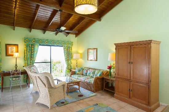 The Mount Nevis Hotel: Living area of Superior Suite with King Bed and Full Kitchen