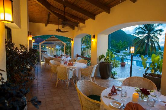 The Mount Nevis Hotel: The Restaurant Terrace