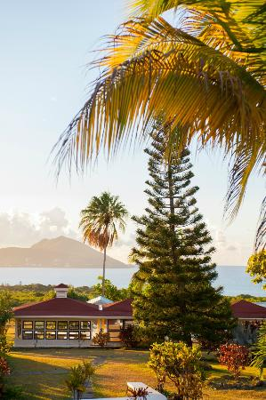 The Mount Nevis Hotel: View of St. Kitts and the Caribbean