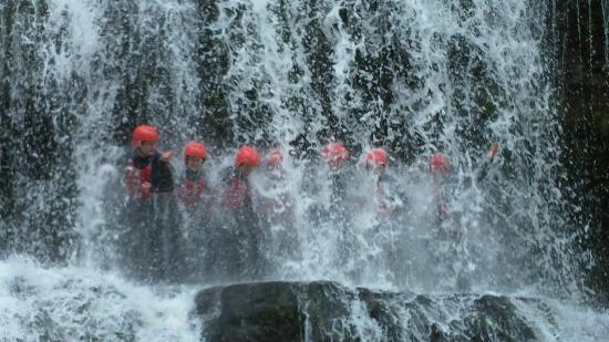 Liquidfriction Adventure Centre: Under the waterfall