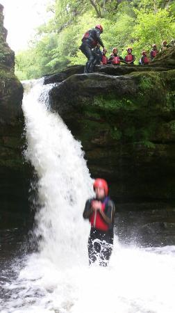 Liquidfriction Adventure Centre: Jumping into rapids